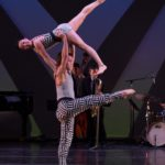 Reed Tankersley and Kara Chan in Murray Louis' Four Brubeck pieces. Now Twyla Tharp dancers